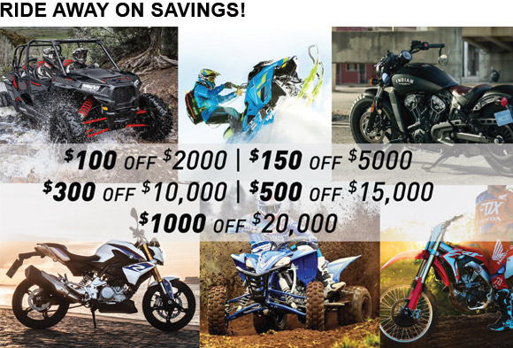 RIDE AWAY ON SAVINGS!