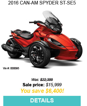 2016 Can-Am SPYDER ST-SE5