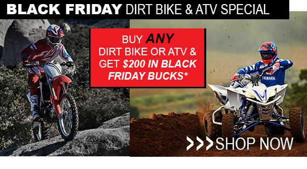 Black Friday Dirt Bike & ATV Special