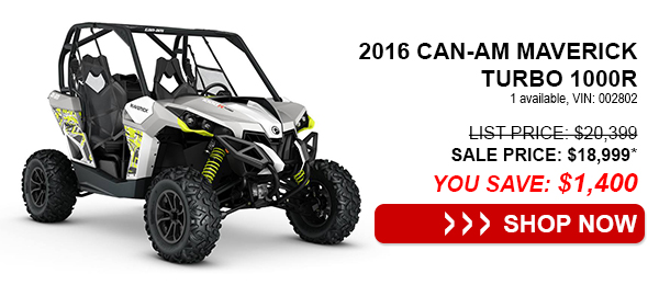 2016 Can-Am Maverick Turbo 1000R
