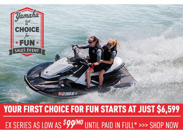 Yamaha - 1st Choice for Fun Sales Event