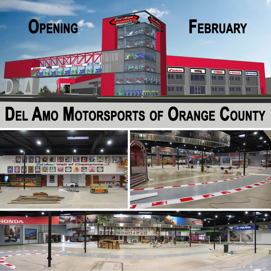 del amo motorsports of orange county is now open